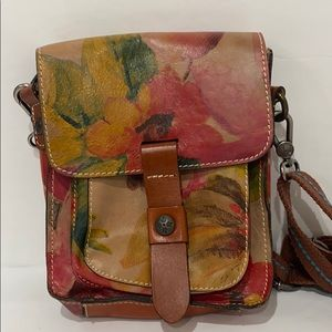 Patricia Nash Floral Leather Crossbody Bag